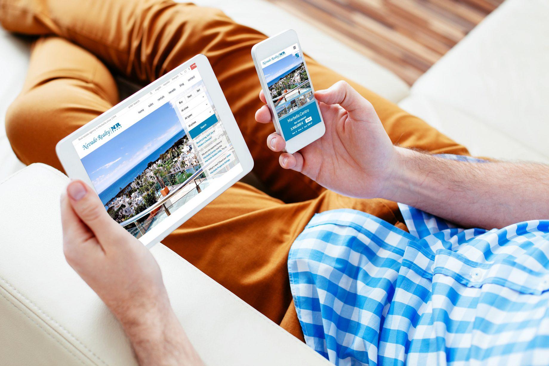 Nevado Realty Marbella new website