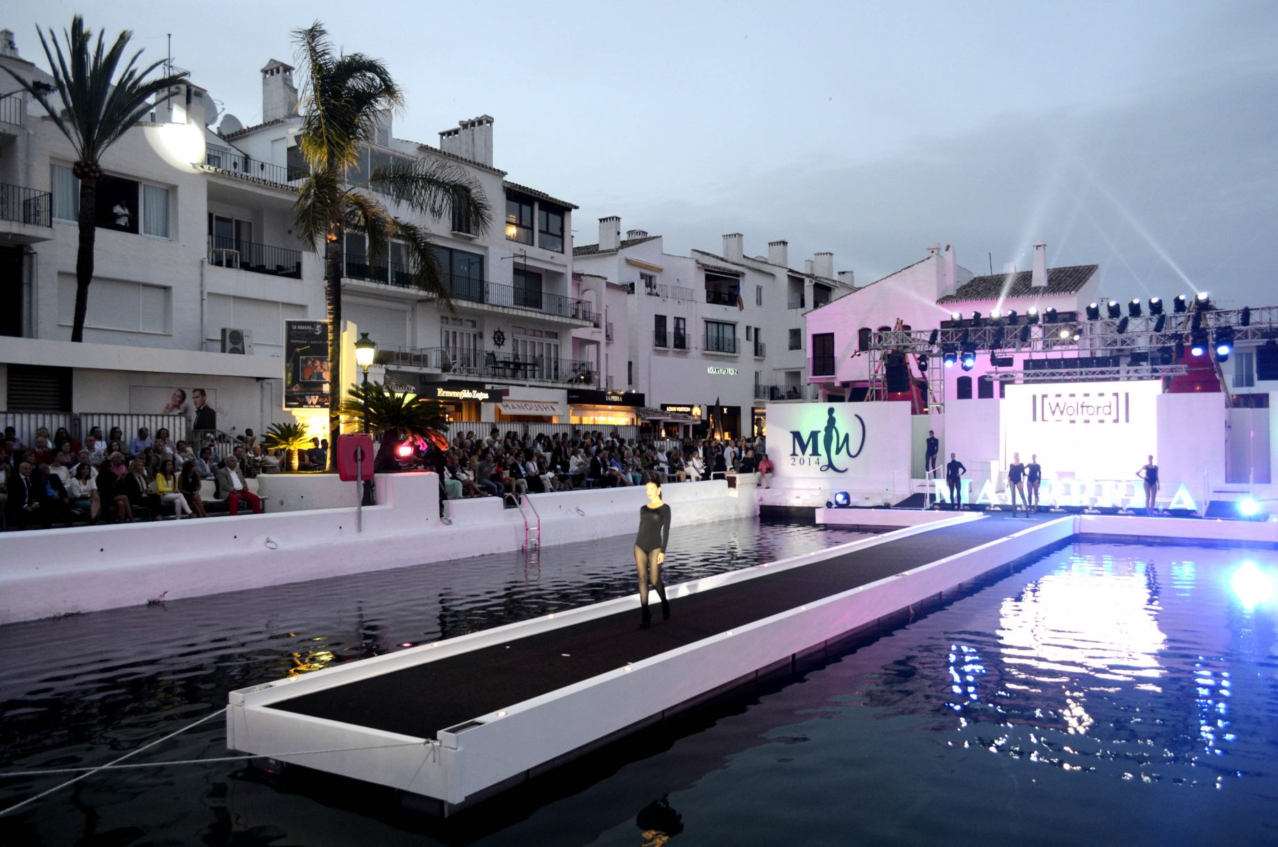 Floatinf catwalk over the sea Marbella