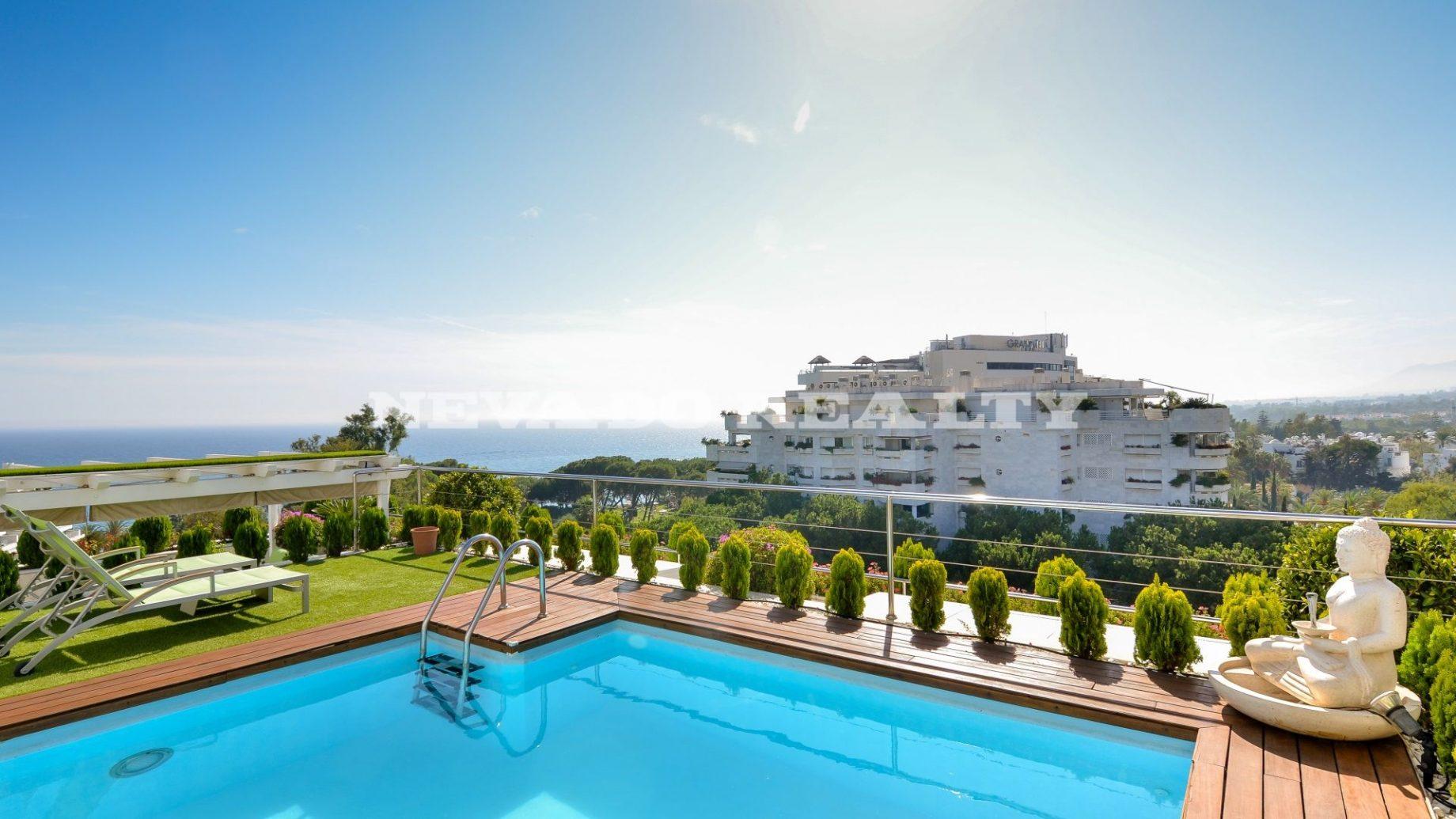 Penthouse de luxe exclusif à vendre dans le centre de Marbella