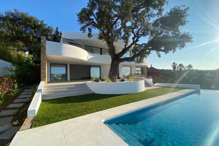 Villa en Elviria con vistas panorámicas